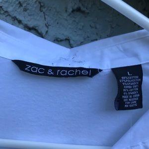 Zac & Rachel Tops - Zac & Rachel white woven & knit top